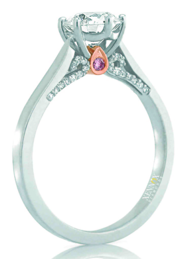 """To celebrate my published book """"Rock Her World"""" - The Ultimate Guide to Choosing the Perfect Engagement Ring. I designed a special Valentines Day engagement ring"""