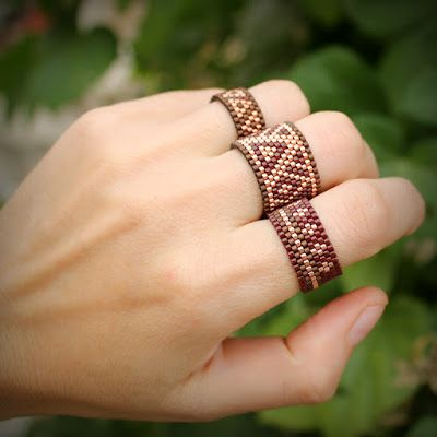 Набор колец на пальцы. Комплект из трех бохо-колец