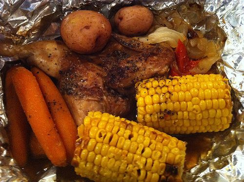 I don't visit Cracker Barrel but the adverts I saw of this new summertime dish did a fantastic job of making me WANT to visit. CAMPFIRE CHICKEN ...