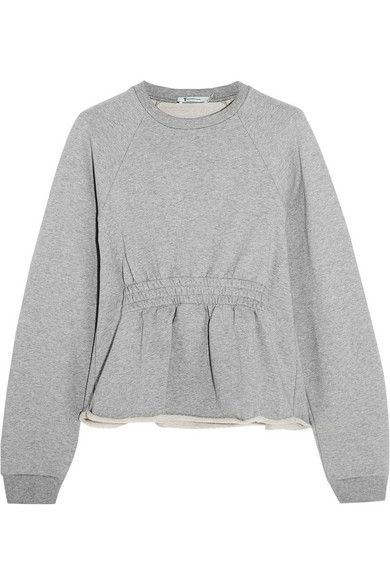 T BY ALEXANDER WANG Cotton-Terry Peplum Sweatshirt. #tbyalexanderwang #cloth #tops