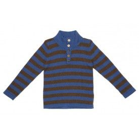 Oobi Percy Sweater - Blue and Brown