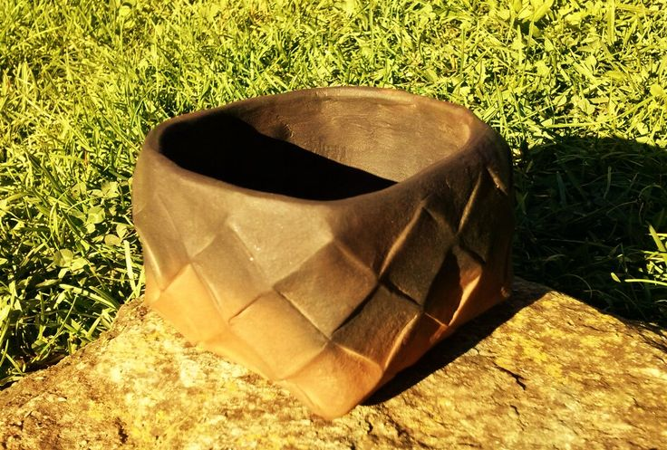 Pit fired neolithic style cup . Zoltan Feher made it.