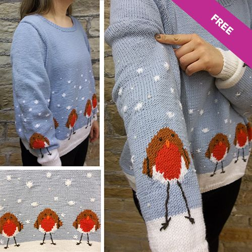 Patons Robins in a Row Free Knitting Pattern