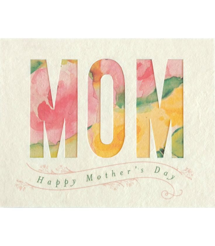 Good Paper - Watercolor Mother's Day Handcrafted Greeting Card