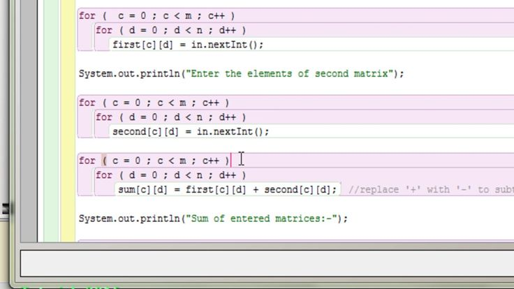 Java program to add two matrices using 2d array