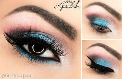 Maquillaje con sombras azules para san valentín ~ Manoslindas.com