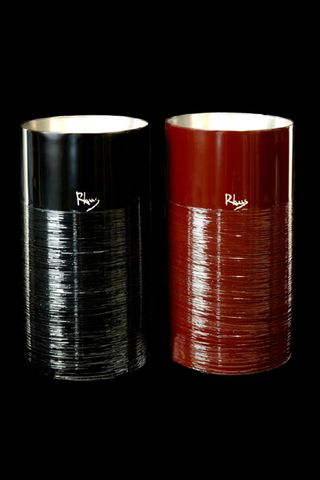 Titanium Japanese Lacquer Tumbler by Rhus  (Strokes-Red) featured on Jzool.com