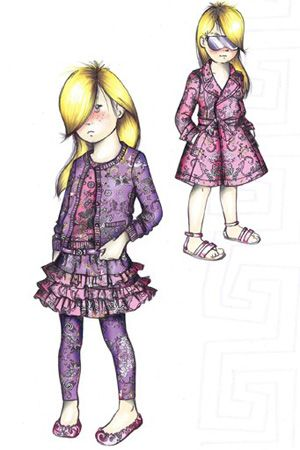 while you were sleeping versace hits the playground gaga plays fashion scholar in v - Kids Sketches