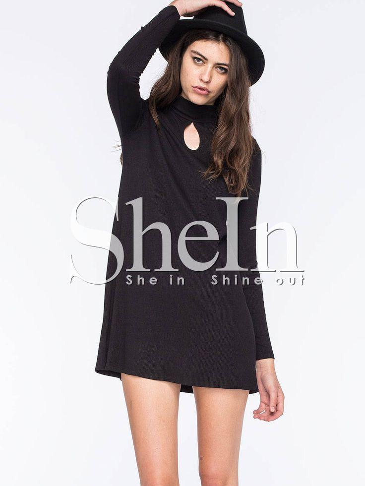 Negozio Vestito casual con maniche lunghe nero on-line. SheIn offre Vestito casual con maniche lunghe nero & di più per soddisfare le vostre esigenze di moda.
