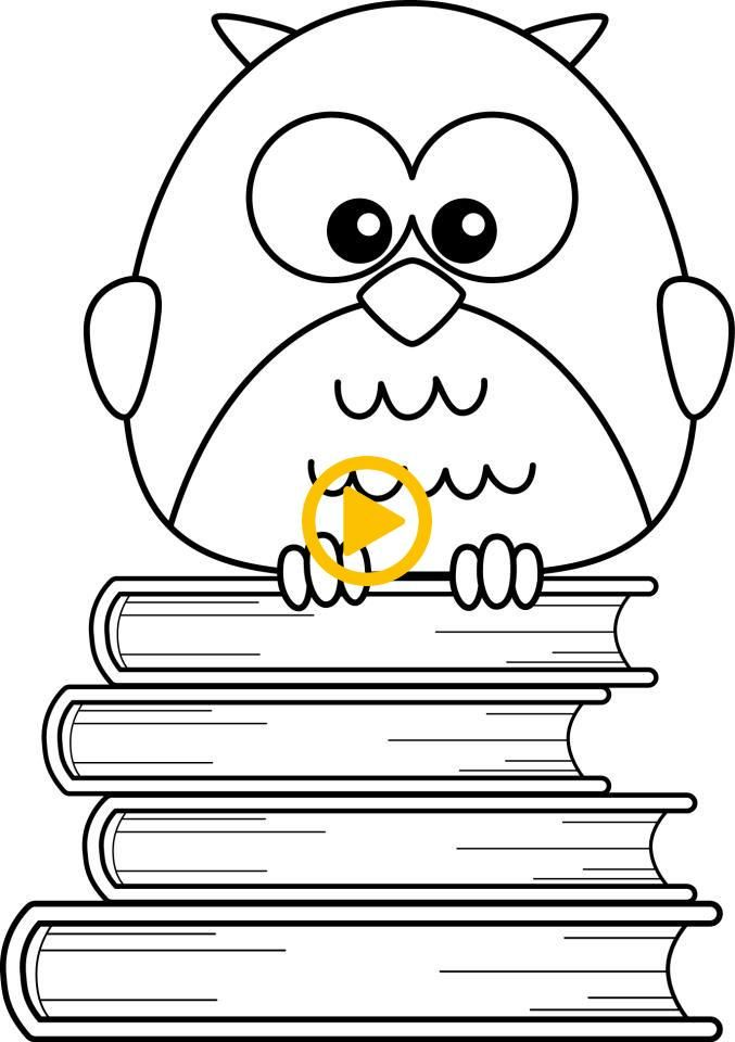 Pin By Cartoons On Cartoons Owl Coloring Pages Coloring Pages Digital Stamps