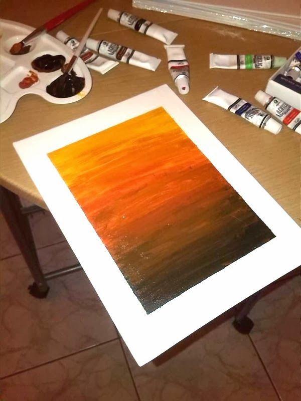 In the interiors - Blog o wnętrzach: Mój pierwszy malowany obrazek/ Farbki akrylowe/ DIY