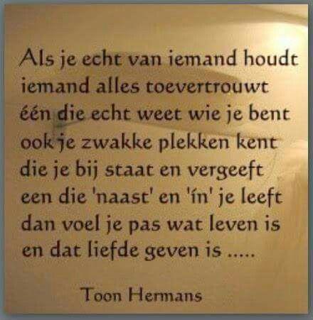 Liefde is geven Toon Hermans