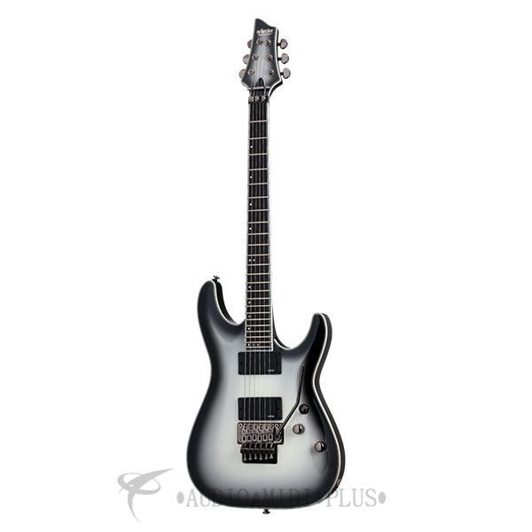 Schecter Jake Pitts C-1 FR Electric Guitar - Metallic White w/Metallic Black Burst www.guitaristica.org #electricguitar #guitars #guitaristica