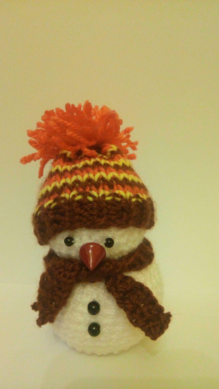 crochet snowman_snehuliak