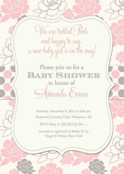 best 20+ baby shower invites for girl ideas on pinterest,