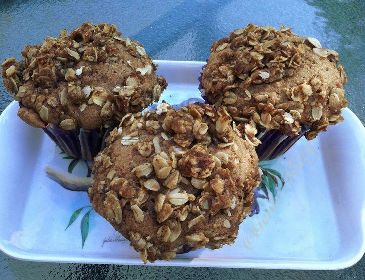 Peach Muffins with Homemade Granola Topping Recipe Vegan Breakfast