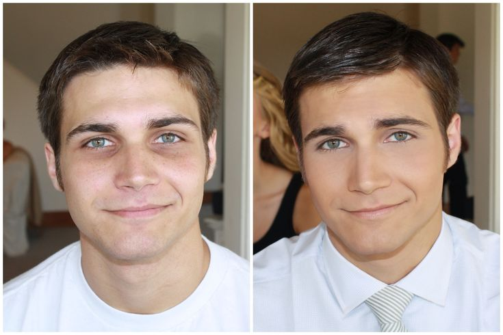 What a difference! Do you think #makeup for #men is #fabulous or fem?