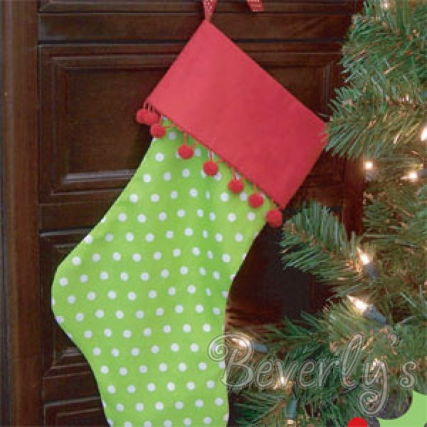Christmas Stocking Craft Ideas Part - 47: Christmas Stocking - Love The Ball Fringe. Need To Add That To The Kidsu0027  Stockings!