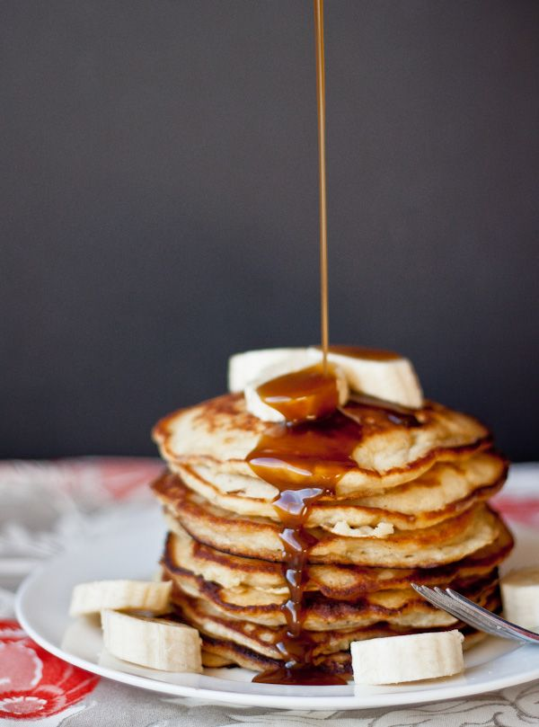 #Recipe: Banana Pancakes with Coconut Caramel Syrup