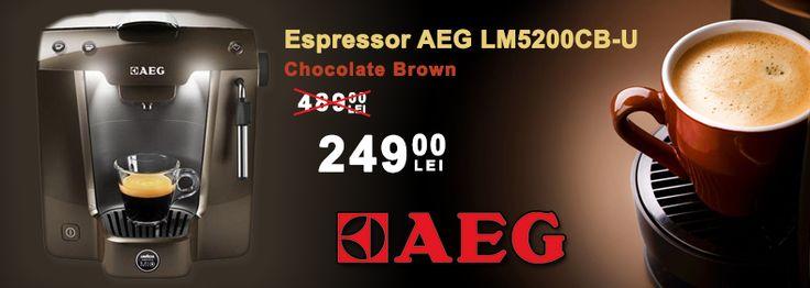 Promotie - Espressor AEG LM5200CB-U Chocolate Brown