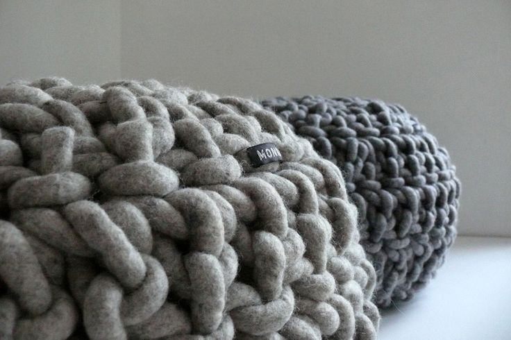 Hand crocheted Pouf 11 made of milled pure wool filled with coconut fiber - InteriorPark.