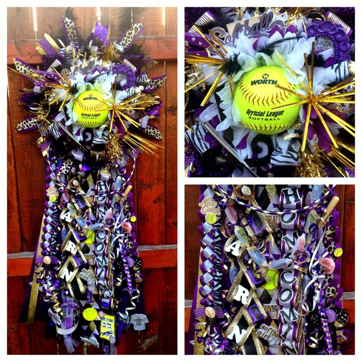 Chisholm Trail High School Homecoming Mum With Softball Theme $185.  MUMified By Brooke. Please