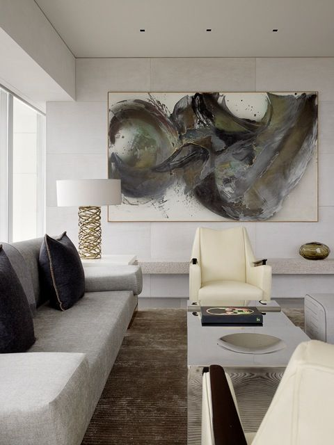 Living room / mid-century modern / interior design & decor / Neutral /