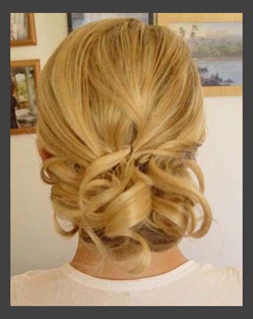 Hairstyles, Vintage Wedding Hairstyles: Simple Style of Wedding Updos For Medium Length Hair
