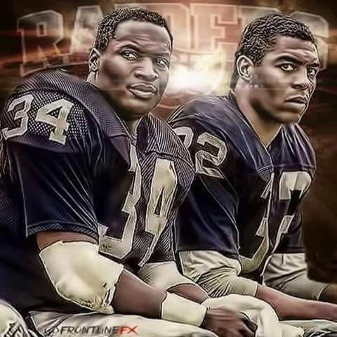 Bo Jackson and Marcus Allen