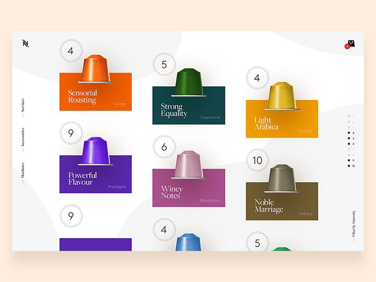 Just a quick preview of a minimal approach for showcasing Nespresso capsules on the main platform. Hope you like it.  Full desktop screen attached for more flavour.  Have a tasty (6 Intensity) day ...