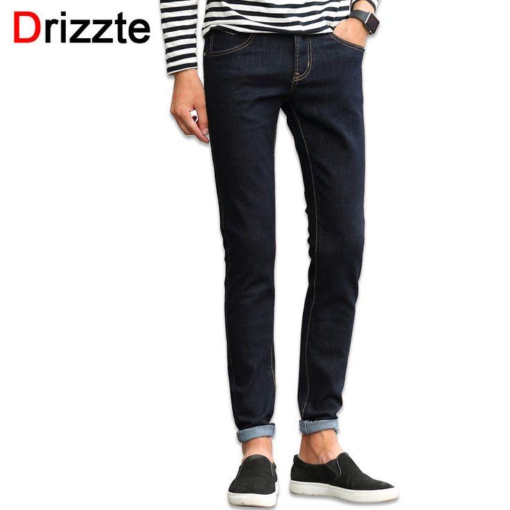 Drizzte Mens Blackblue Stretch Denim Jeans for Men Slim Jeans Pants Trousers for Men