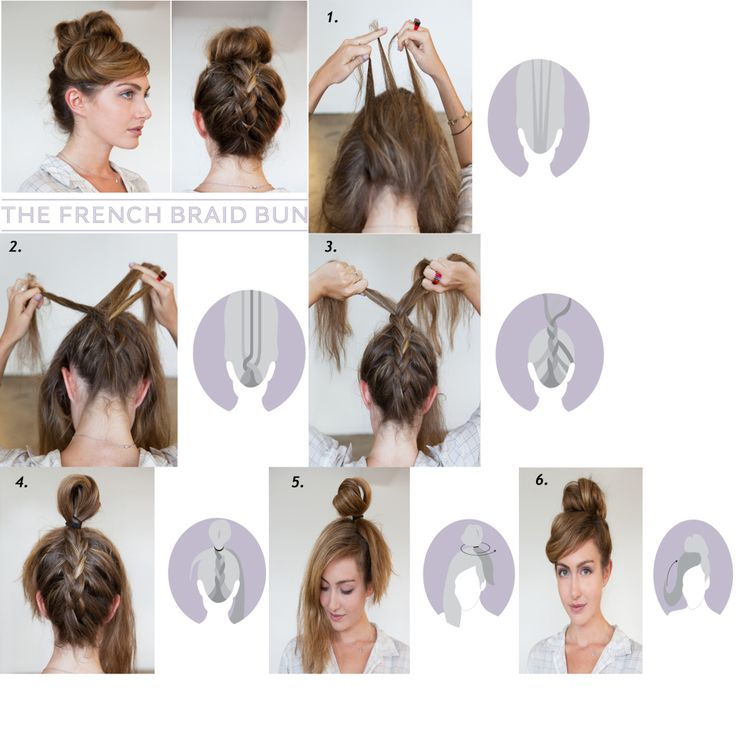 upside down diy french braid bun #DIY