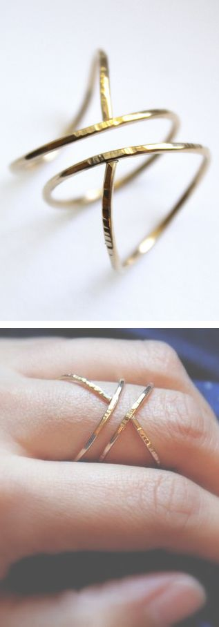 Hammered siren ring | jewelry design