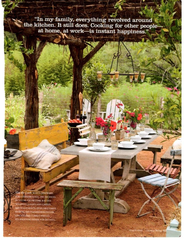outdoor dining rustic Outdoor Dining