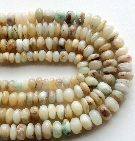 Natural Opal Beads Plain Opal Rondelle Beads Opal by gemsforjewels