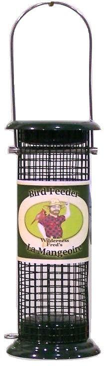 "BPF-27   Metal Peanut and sunflower feeder  7"" caged Peanut Feeder Easy to remove bottom.  Woodpecker Friendly!"