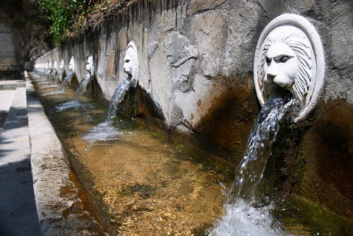 Fountains and natural spring water in the mountain village of Spili. #Crete #Greece #Travel