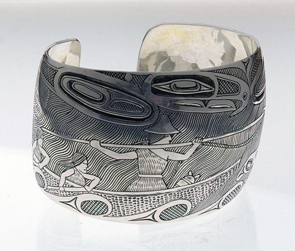 Whalers Bracelet by Barry Wilson, Haisla (Xanaksiyala) artist (W80410)