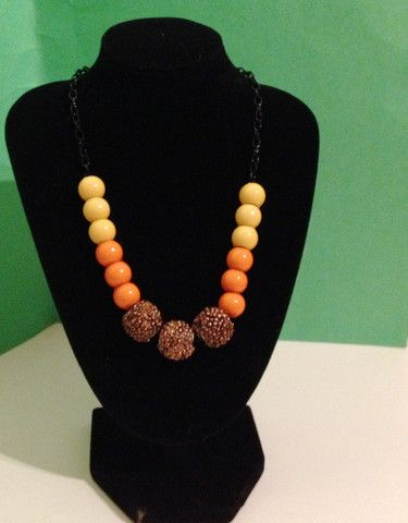 Brown, orange, yellow necklace – WillyNO