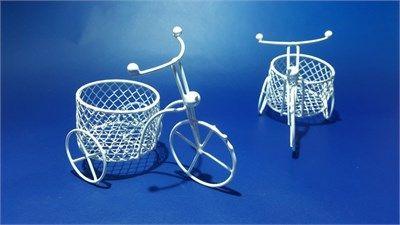 Büyük Sepetli Bisiklet Beyaz