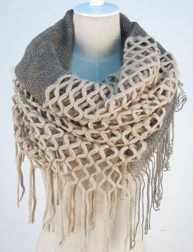 Fashion Women Winter Warm Knit Long Scarf Infinity Tassels Soft Shawl 7 Colors