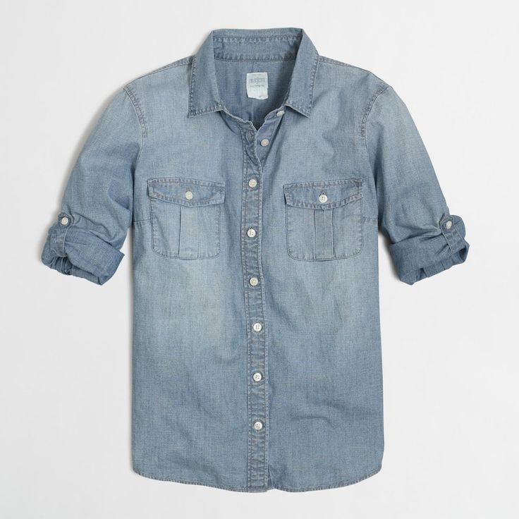 I found this denim shirt from J.Crew Outlet for $37.12 (with my #TangerStyle Fall coupons). - Caroline #TangerSaver #TangerOnADime Blog: http://tangeronadime.tangeroutlet.com/