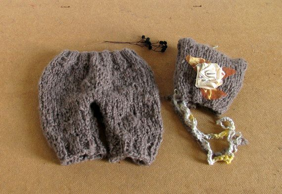 Baby Pixie Hat & Short Pant Diaper Cover Photo by recyclingroom, $29.00