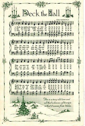 Beautiful Deck the Hall sheet music.