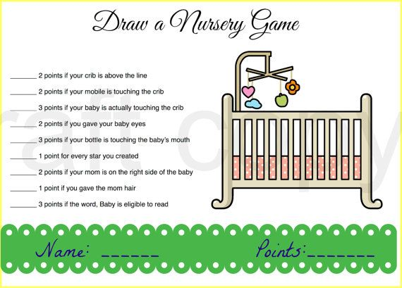 Baby Shower Game - Who can draw the best nursery without looking!
