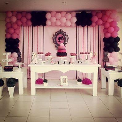 Festa #barbie moda e magia
