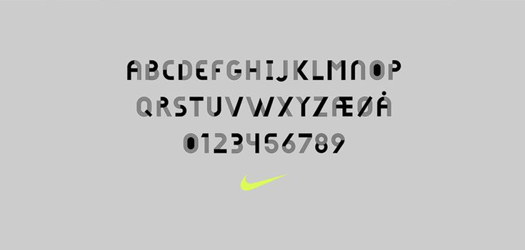 To promote its concept store in Oslo, Nike has revealed a bespoke #typeface that reflects the Norwegian capital's local identity and designed by Hans Christian Øren, the founder of Oh Yeah Studio.