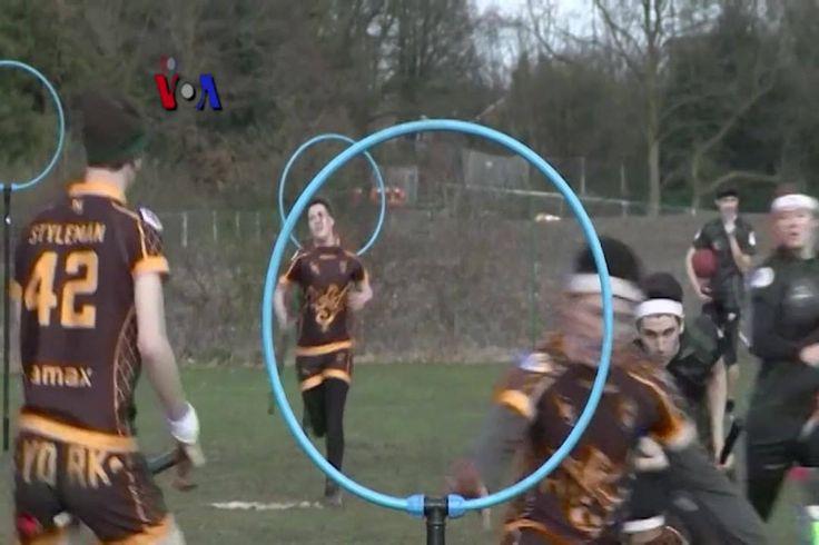 Quidditch adalah olahraga fiksi yang diciptakan penulis novel J.K. Rowling dalam novelnya, Harry Potter. Kini, bukan saja menjadi nyata, olahraga ciptaannya tersebut dipertandingkan dalam Turnamen Piala Quidditch Inggris.  Di YouTube: https://youtu.be/Mckgwb0gKWw