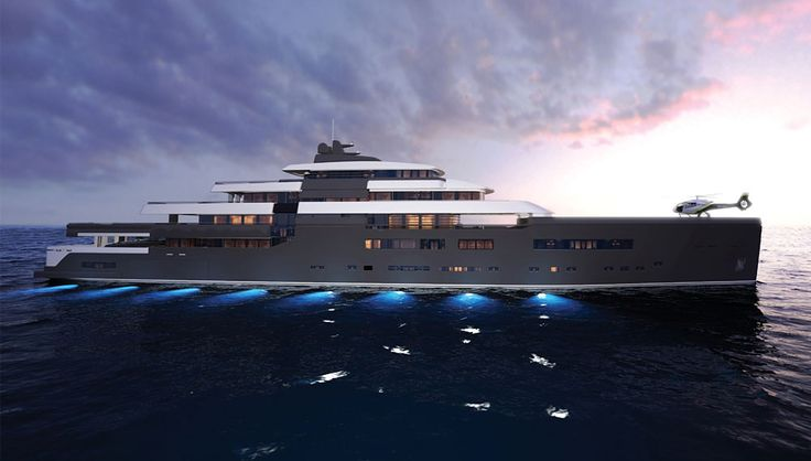 Zuccon Superyacht Design, the Italian yacht company, showed a 302-foot concept yacht at the Monaco Yacht Show last month with a steel hull and aluminum construction.