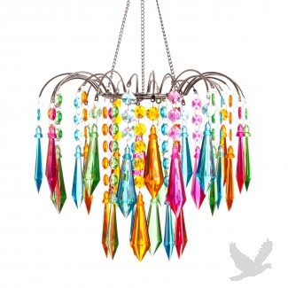 1253 best chandeliers lights images on pinterest lamps teardrop crystal fountain chandelier multi color pastel mozeypictures Image collections